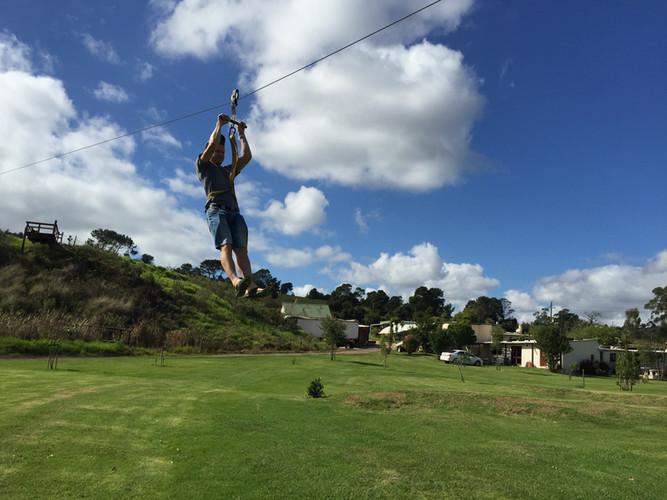 Flying through the air