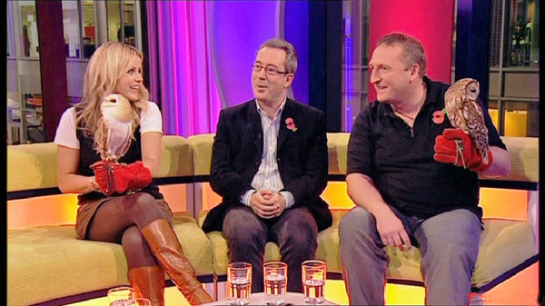 On the ONE Show couch with Ben Elton & Ellie Harrison