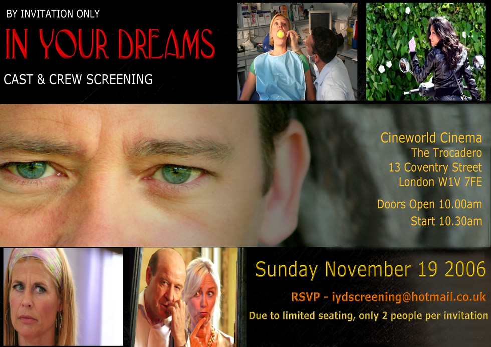Cast & crew invite to for the 'In Your Dreams' movie premier