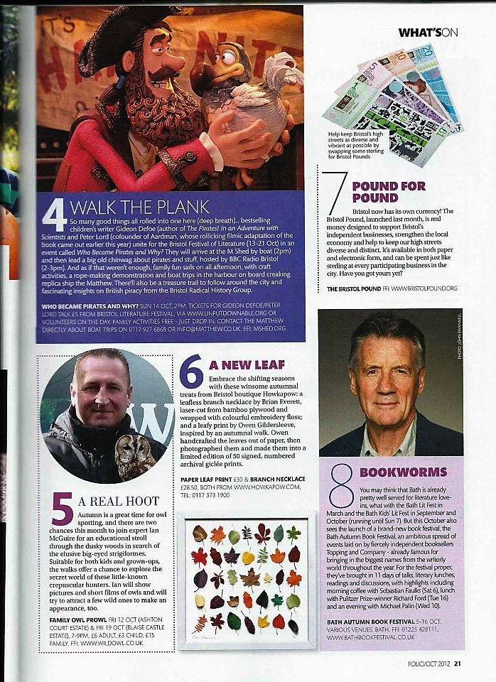 Sharing a page with Michael Palin
