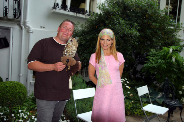 With Hollywood actress Linda Hamilton aka Sarah Connor from Terminator films