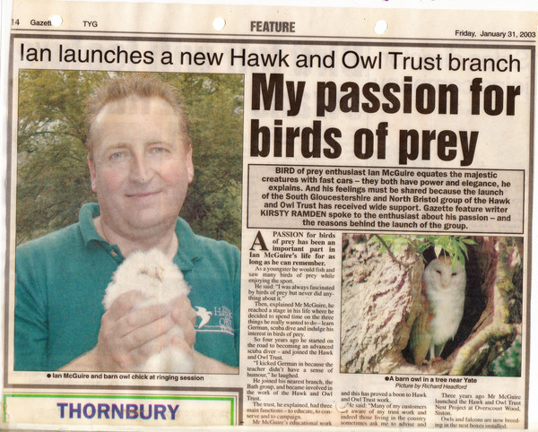 Launch of Hawk and Owl Trust South Gloucestershire group
