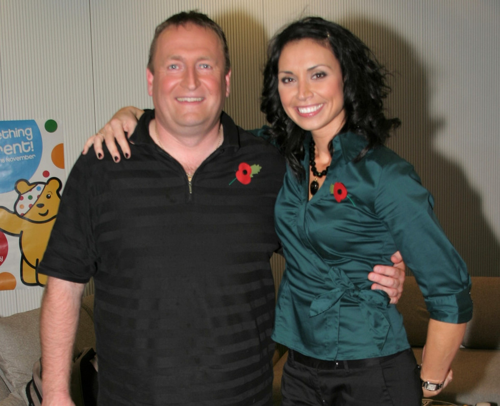 With TV presenter Christine Bleakley