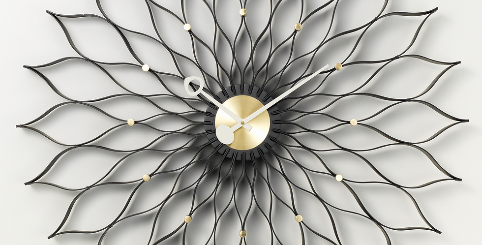 Sunflower Clock Ash/Brass