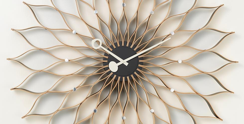 Sunflower Clock Birch