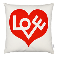 Vitra Love Red - Graphic Print Pillow
