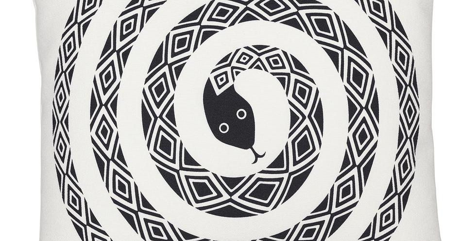 Graphic Print Pillows - Snake Black