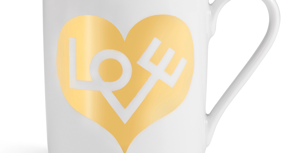 Love Heart Gold - Coffee Mug