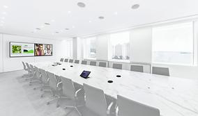 Meeting rooms usin Crestron Saros loudspeakers | AudeoNet