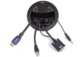 Crestron TT-111 desktop HDMI & VGA faceplate with cable management | AudeoNet