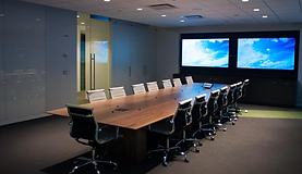 Meeting rooms usng Crestron CP3 integrated control system | AudeoNet