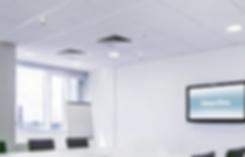 Meeting room with ClearOne Ceiling Microphone Array | AudeoNet