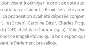 Droit de vote des étrangers à Bruxelles - on avance !