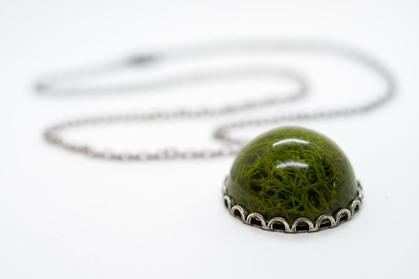 "Moss Necklace, 17.5"" (OR001)"