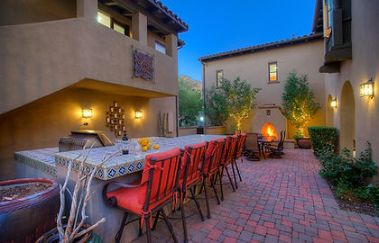 Real estate photography at dusk in Phoenix, AZ
