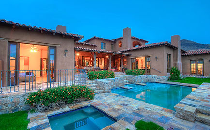 Real estate photography at twilight in Scottsdale, AZ