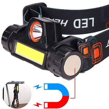 Mini Portable LED Headlamp USB Rechargeable Head Flashlight Waterproof Torch