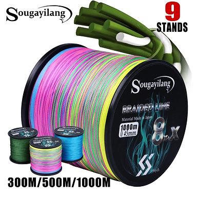 Sougayilang 9 Strands Fishing Line 300/500/1000m Braided PE