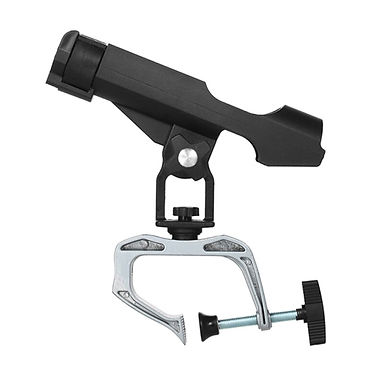 Fishing Boat Kayak Rods Holder With Large Clamp Opening 360 Degree Adjustable