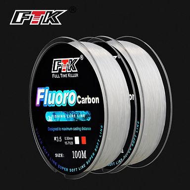 FTK Fluorocarbon Fishing Line 100M 4-34lb Carbon Fiber