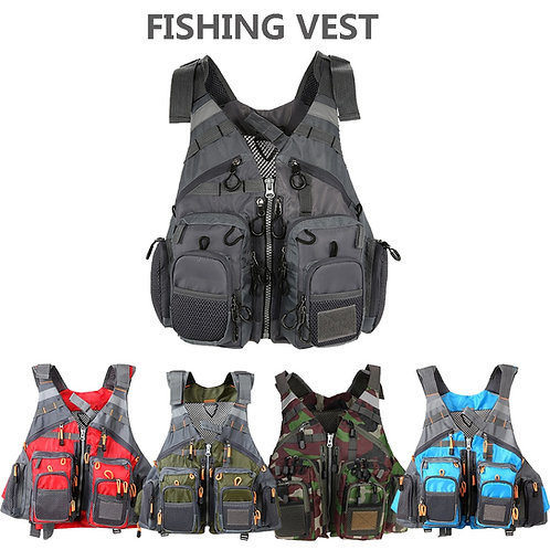 fishing essential vest for fishing ( add foam to add life jacket function)
