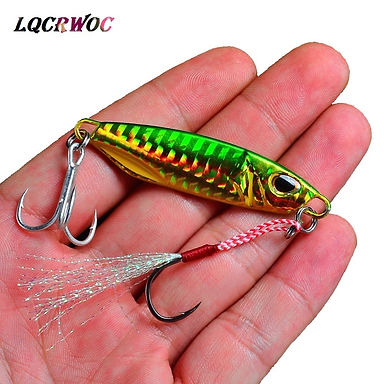 10g 15g 20g 30g 40g 50g Fishing Jigging Lure Spinner Metal Bait Bass Tuna Lures
