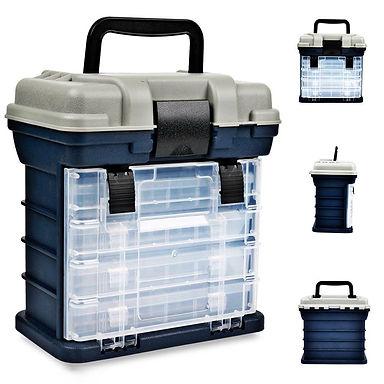 27*17*26cm Portable 4 Layers Big Fishing Tackle Box Plastic Handle Fishing Box