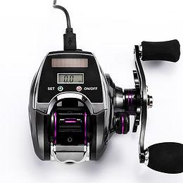 Electronic Fishing Reel, Digital Display Reel 8.0:1 High Speed Ratio