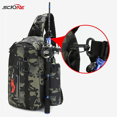 Shoulder Waist Bag Large Capacity  Outdoor Fishing Tackle Backpack Tackle