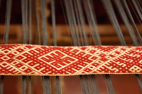 weaver's workshop, weaving, National Costume, made in Latvia, handmade, textile artists, weavers Ziedonis and Inara Abolini, Kuldiga, traditions, homemade