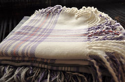 woollen shawls, hand craft textiles, woven handmade textiles, weaver studio, made in Latvia, Kuldiga, textile artists Ziedonis and Inara Abolini