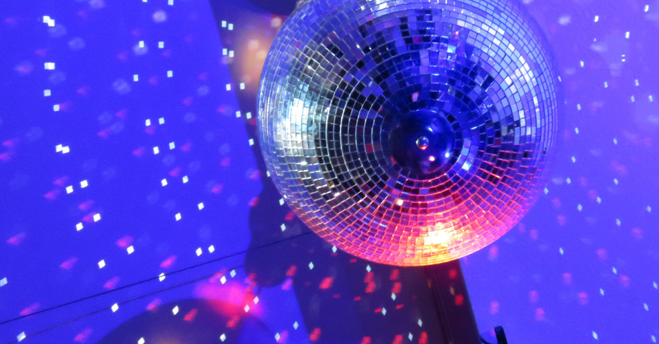Disco Ball in action - this is available as an extra in your hire