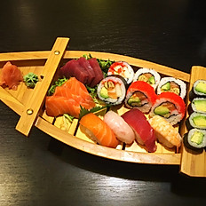 Sushi sashimi mix (boot) 24st voor 1ps