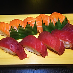 Sushi combo nigiri zalm, tonijin 10st