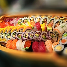 Speciale sushi sashimi mix (boot)  80st voor 4ps