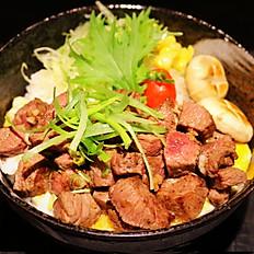 Teppanyaki beef don