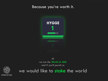 HYGGE stake pool is live with 0% fee