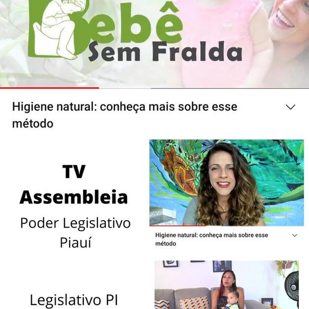 Fernanda Paz na TV Assembleia Piauí com a Higiene Natural