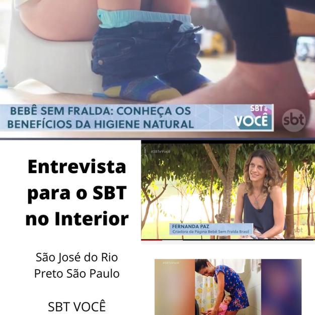 Fernanda Paz no SBT com a Higiene Natural
