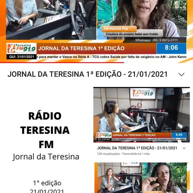 Fernanda Paz na Rádio Teresina FM com a Higiene Natural