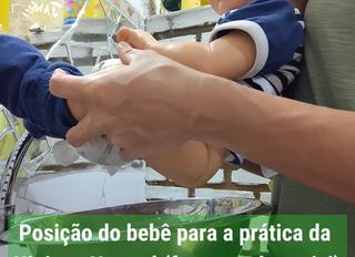 Posição do bebê para a prática da Higiene Natural