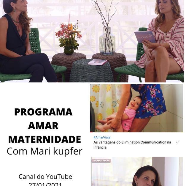 Fernanda Paz no programa Amar Maternidade com a Higiene Natural
