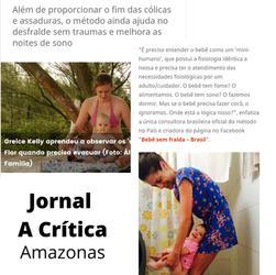 Fernanda Paz no Jornal A Crítica com a Higiene Natural