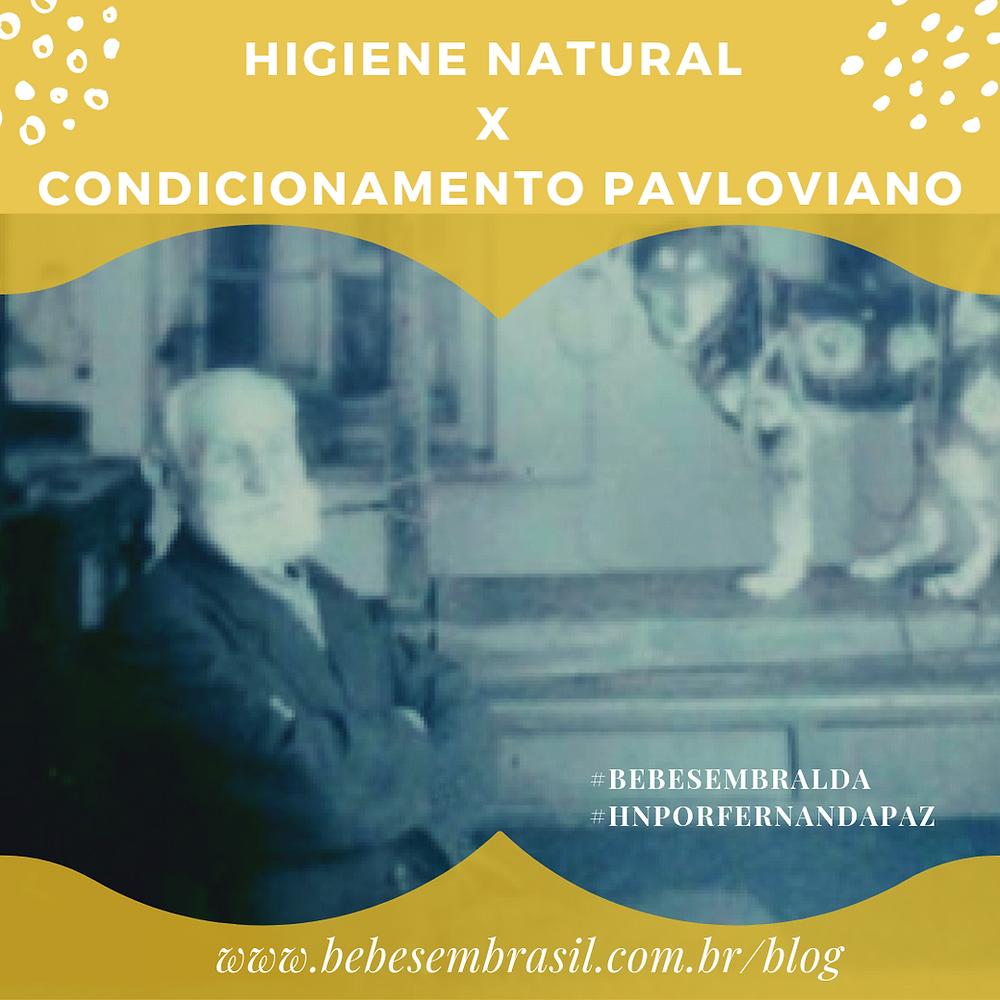 higiene natural x condicionamento pavloviano imagem de Pavlov senhor de barba branca e um cachorro em experimento