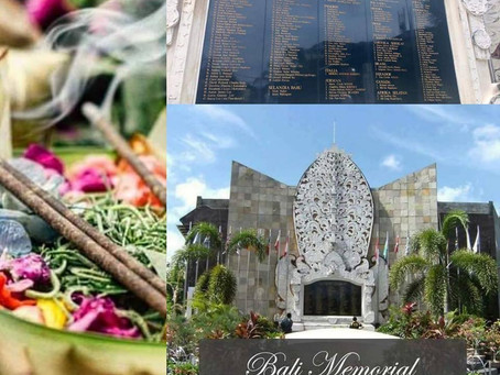 Bali Memorial. Commemoration of the 2002 Bali bombing. Friday 12th October. Today marks a sad day in