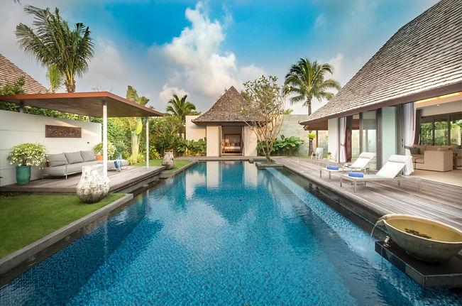 Gorgeous 4 four bed pool villa at layan beach, Phuket