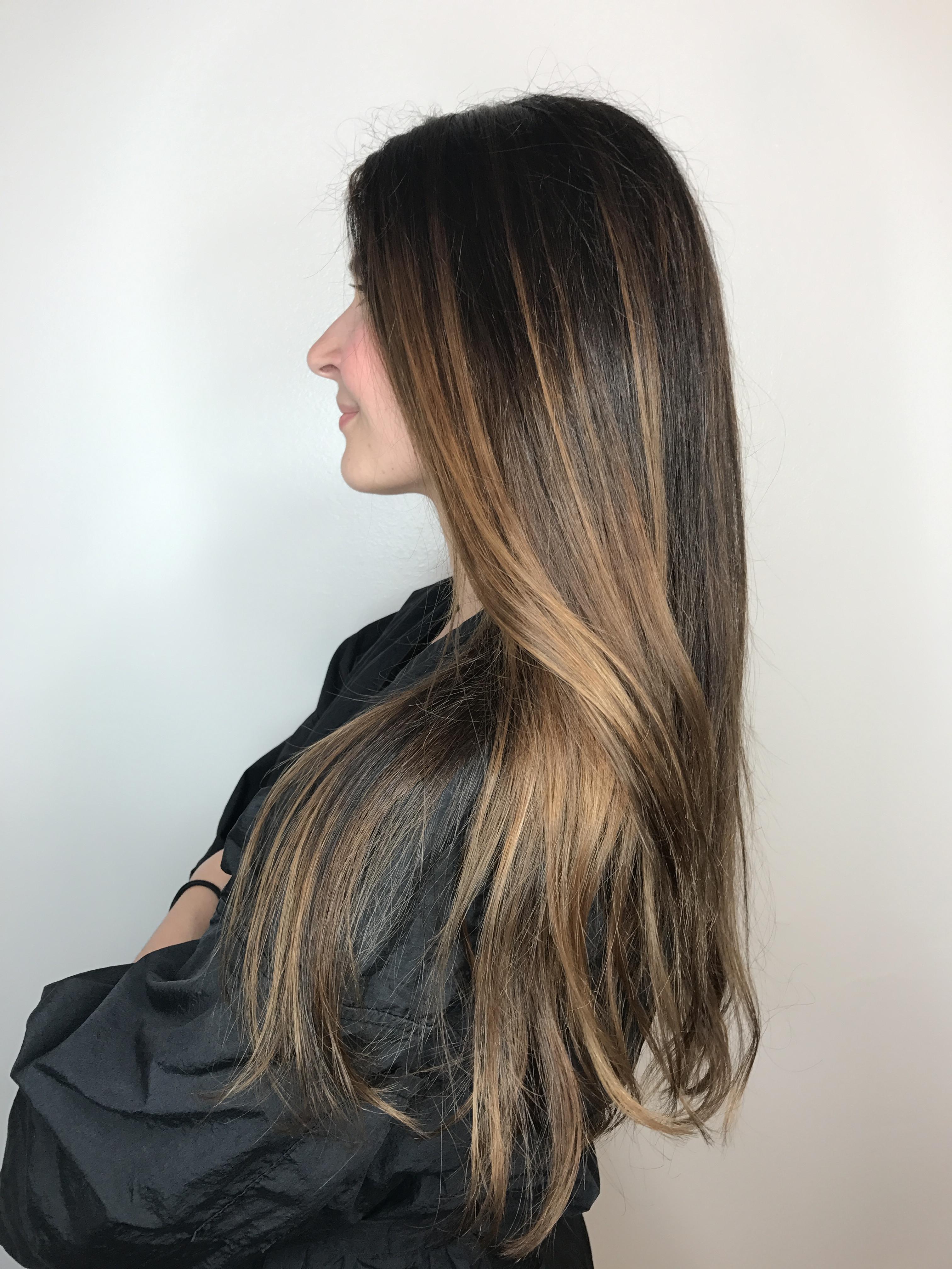 Balayage Keratin & Hair Cut