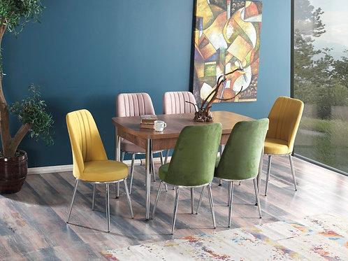 Elba Yemek Masası ve +4 veya +6 sandalye seçeneği