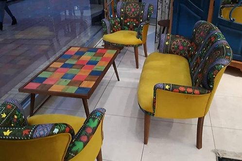 Rainbow J Çay Seti koltuk takımı (Balkon, Salon, Cafe, Ofis) 2+1+1