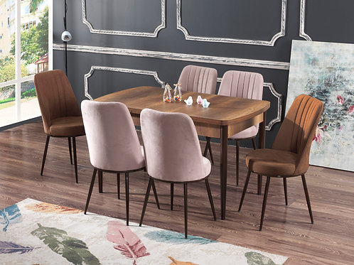 BEDİA MASA VE SANDALYE TAKIMI + 4 veya 6 Sandalye Seçeneği, Salon, Mutfak